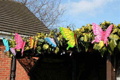 garden decoration uk butterflies garden decoration multi coloured metal outdoor