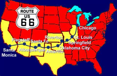 travel images route 66 map wallpaper and background photos