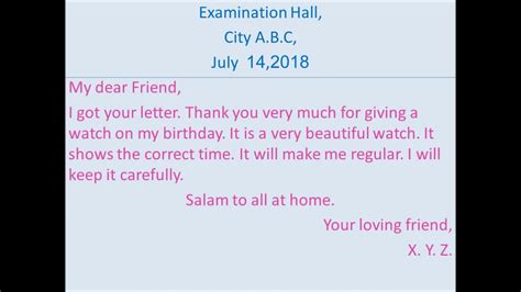 Letter To Your Friend Thanking Him For His Hospitality