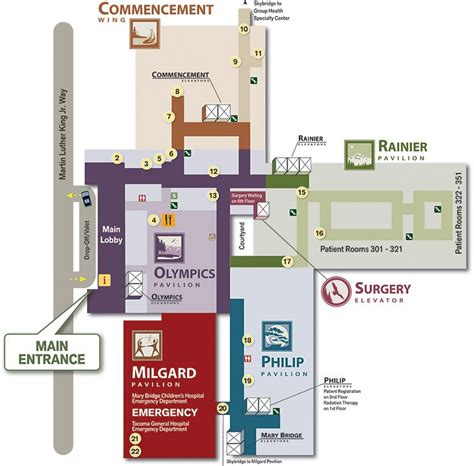 tacoma general emergency room 3rd floor map multicare health system