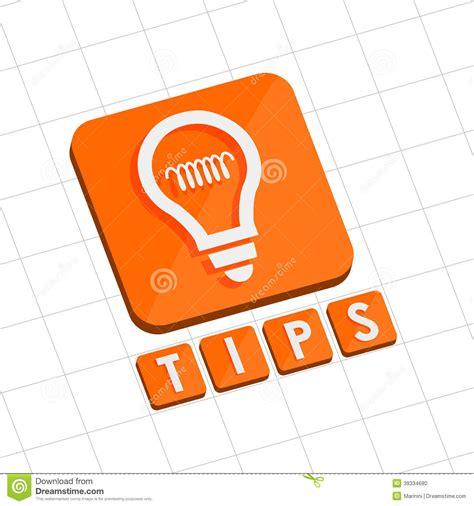 icon design tips tips and bulb symbol flat design web icon stock