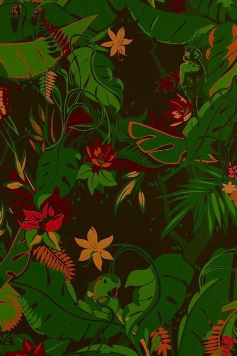 jungle wallpaper pattern jungle fever wallpaper by kravitz design pattern color