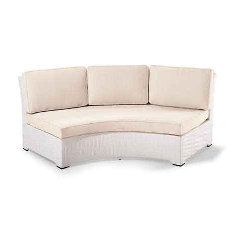 Curved White Sofa Palermo Armless Curved Sofa With Cushions In White Finish Frontgate