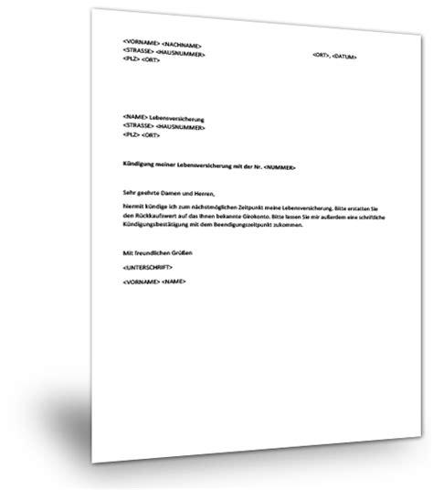 Vorlage Kündigung Lebensversicherung Allianz Muster Kndigung Kfz Versicherung Kndigen Kfz Versicherung Girokonto Kndigen Erklrt Alle Tipps