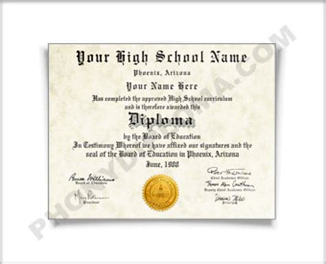 Buy Fake High School Diplomas Degrees And Transcripts At 79 Phonydiploma Com Maryland High School Diploma Template