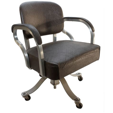 Office Chairs Industrial Machine Age Industrial Swivel Desk Office Chair At 1stdibs