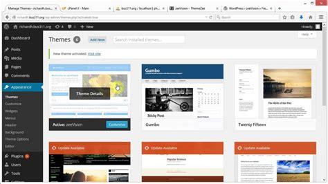 changing themes on wordpress wordpress changing themes comments menu youtube