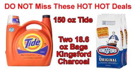 deal on kingsford charcoal and tide run these