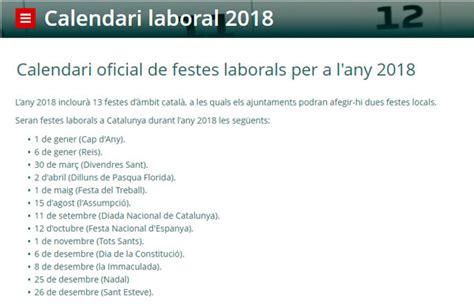 Calendari 2018 Català El 12 De Octubre Y El D 237 A De La Constituci 243 N Ser 225 N