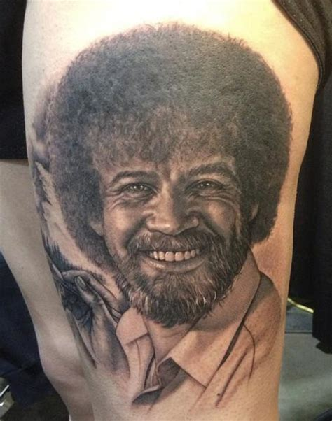bob ross tattoo infamous company tattoos steve wimmer bob ross