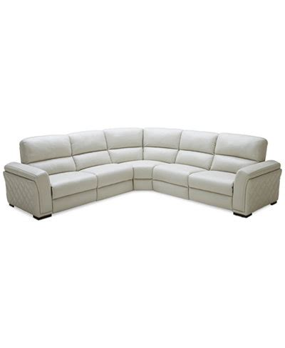Sectional Sofa Macys by Closeout 5 Pc Leather Sectional Sofa With 3 Power