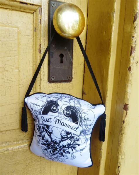 Door Knob Signs by Just Married Do Not Disturb Door Knob Hanger Sign By
