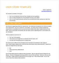 user story template pdf user story template 9 free documents in pdf