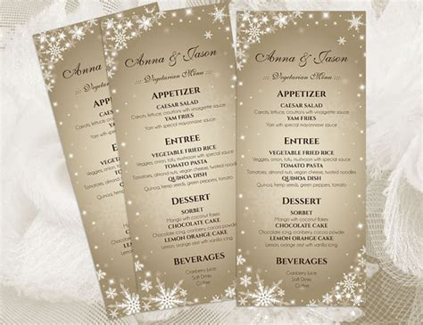 diy menu template diy printable wedding menu template 2410843 weddbook
