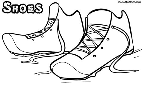running shoes coloring sheet coloring pages