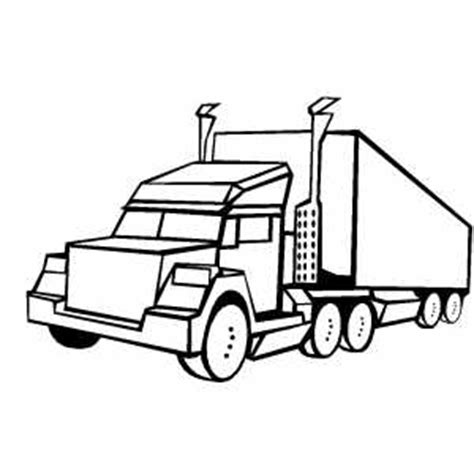 coloring pages of big cars big truck coloring page