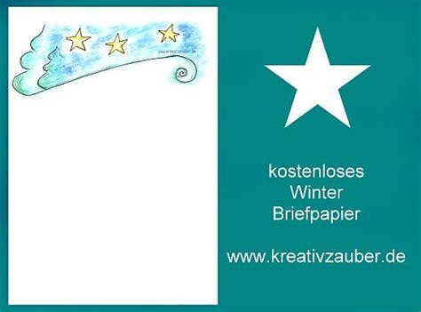 Kostenlose Vorlage Weihnachtsbriefpapier briefpapier winter kostenlos ausdrucken kreativzauber 174