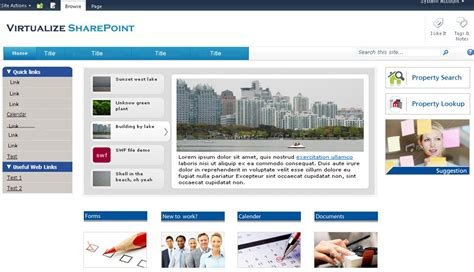 Home Page Design Samples by Sharepoint 2010 Sample Intranet Design Corporate