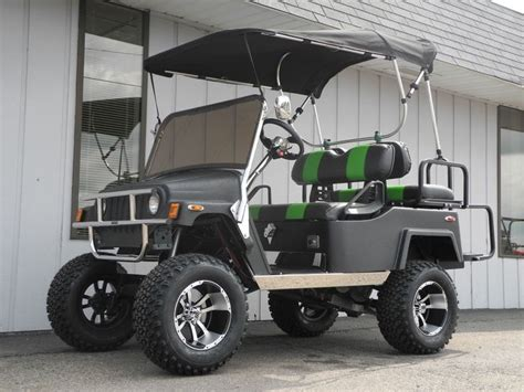 custom convertible jeep this super cool custom e z go street ready gas golf car