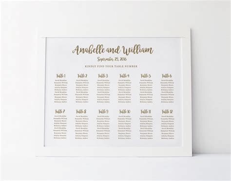 table plan cards template wedding seating chart poster template word printable