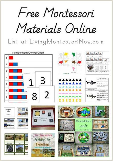 free printable montessori albums free montessori materials online posts classroom and