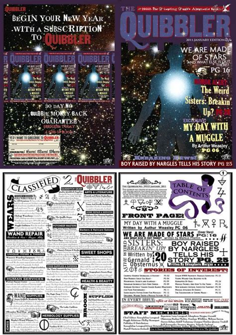 free printable quibbler 1000 images about mini newspaper on pinterest bellatrix