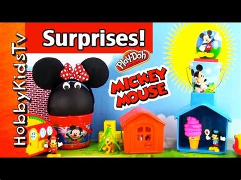 mickey mouse surprise eggs play toys kinder chocolate mickey mouse clubhouse disney junior surprise eggs wi