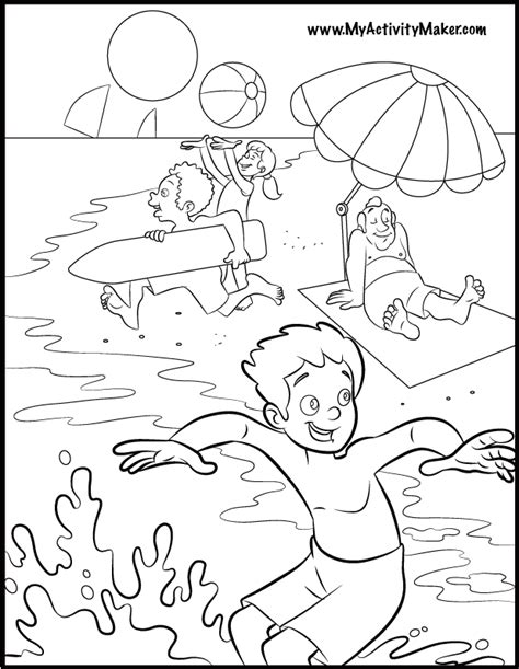 summer coloring book pages my activity maker