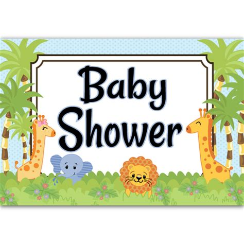 Baby Safari Baby Shower by Jungle Babies Baby Shower Poster