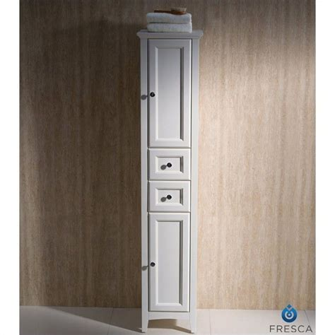 narrow bathroom linen cabinets fresca oxford bathroom linen cabinet in antique white