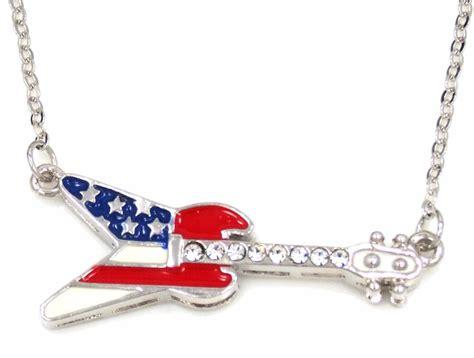 new usa flag guitar charm pendant silver gold