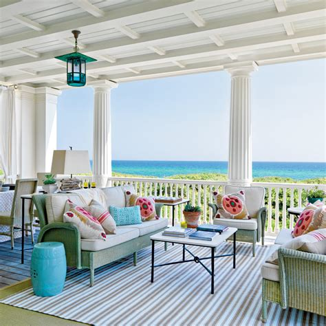 living room retreat with a coastal feel in this living playful retreat porch inviting florida homes coastal