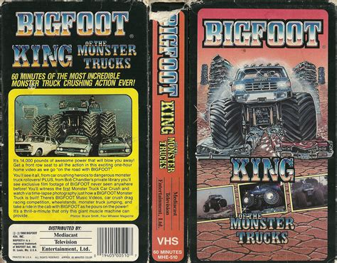 bigfoot king of the trucks vhs your home for high resolution scans of