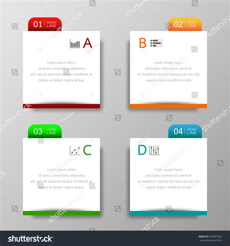 add website text box to business card template in word banners template colorful tabs design illustration stock