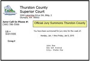 exle letter excuse jury service notification of jury