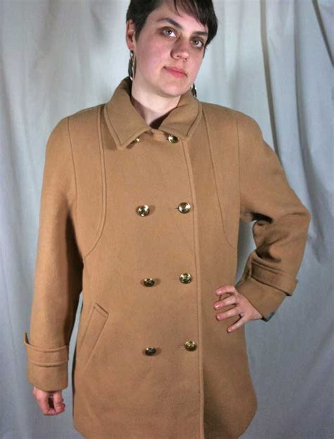 camel colored peacoat vintage mackintosh 100 wool camel colored peacoat jacket