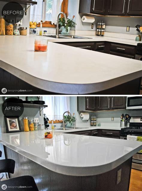 Diy Plan De Travail Cuisine by Diy Glossy Painted Counters Maison Plans De Travail