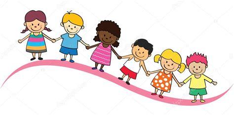 imagenes niños felices animadas dibujos animados de ni 241 os felices vector de stock