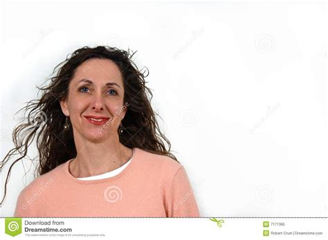attractive middle aged hair attractive middle aged woman royalty free stock photo