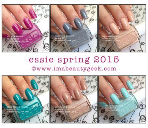 essie spring 2015 swatches essie spring 2015 comparison swatches beautygeeks