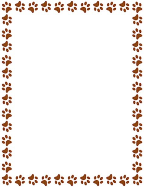 Paw Print Page Border Clip by Tiger Paw Border Clip 12