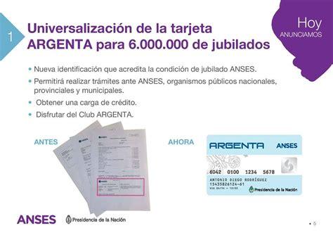 la tarjeta argenta de anses para jubilados argenta cristina fernandez de kirchner