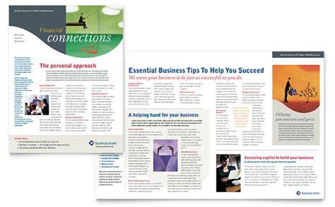 Bank Newsletter Business Bank Newsletter Template Design