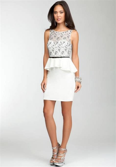 this lace overlay peplum dress bebe clothing stores