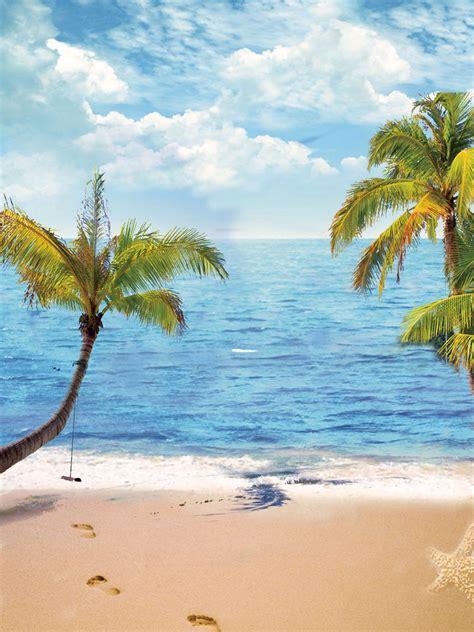 beach backdrop ocean backgrounds blue sky backdrop g 491