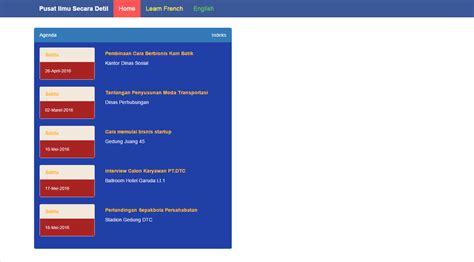 membuat agenda kegiatan dengan php php format tanggal indonesia dari database
