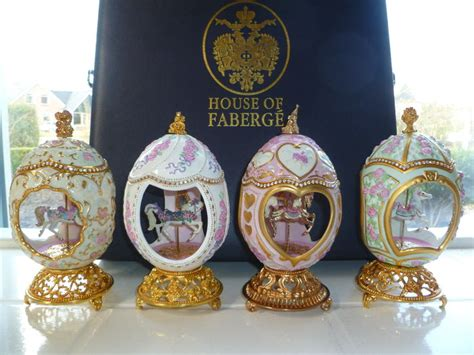 house of faberge musical eggs franklin mint house of faberge set of 4 carousel music eggs in deluxe case catawiki