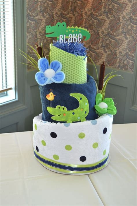 Alligator Baby Shower by Cake For Alligator Baby Shower By Baby Blossom Co