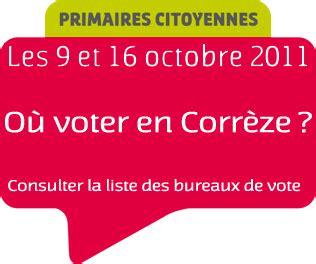 secr騁aire de bureau de vote primaires citoyennes en corr 232 ze gt carte et liste des