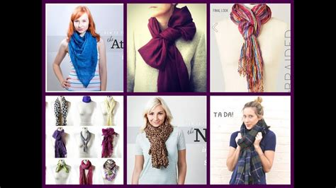 tutorial ways to wear a scarf 60 ways to wear a scarf scarves tying tutorial youtube